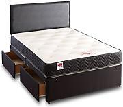 Buy mattresses somnior beds online lionshome for King size 2 drawer divan